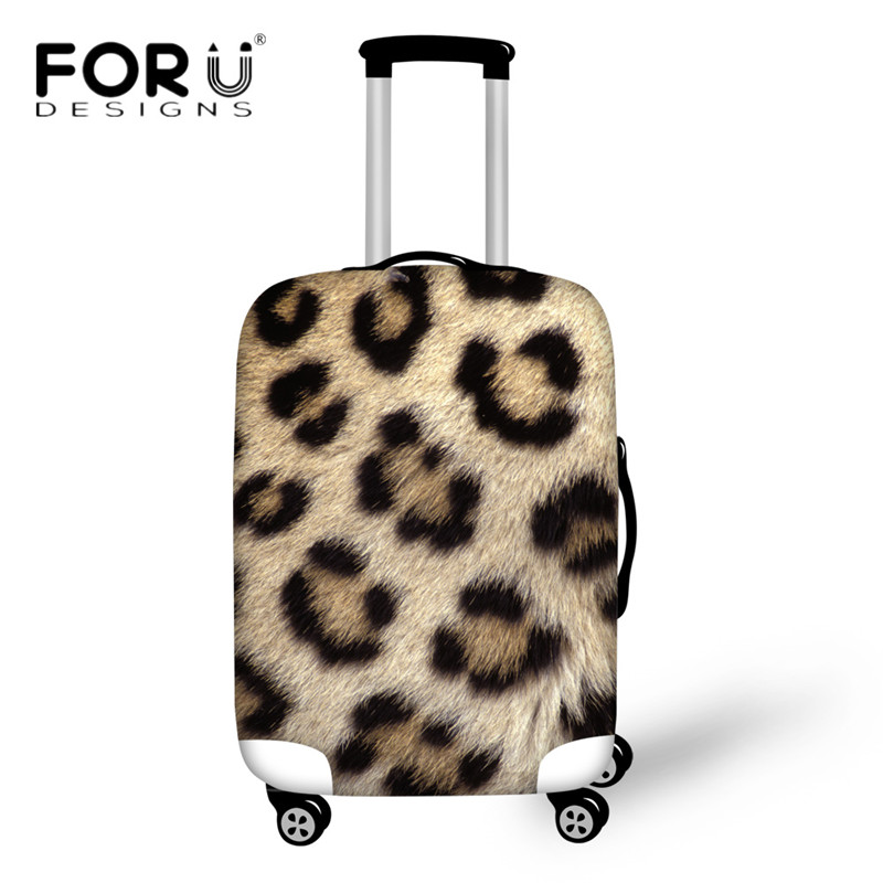 FORUDESIGNS Animal 3D Leopard Luggage Protective Case Apply To 18-30 Inch Suitcase Covers Waterproof Elastic Travel Accessories
