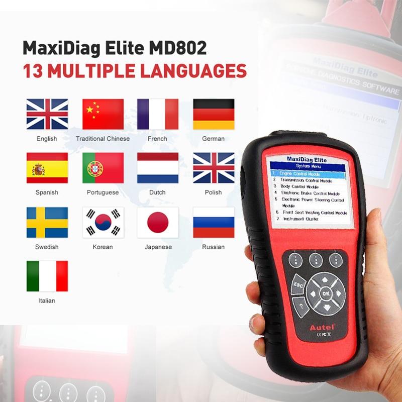 Image 5 - Autel MD802 OBD2 Scanner EOBD Scan Tool for Engine Transmission ABS Airbag EPB Oil Service Reset Code Reader Diagnostic Tool