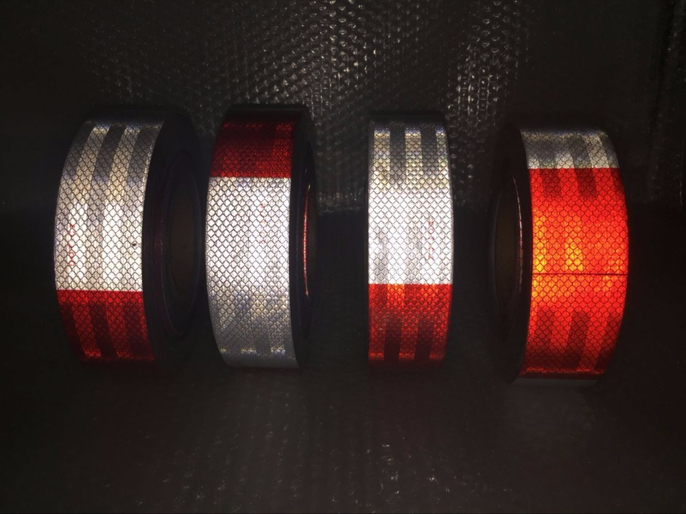 10 Roll Wholesale Car Styling Reflective Stickers Decoration Film Motorcycle Safe Baby Car Reflect Safety Warning Tape