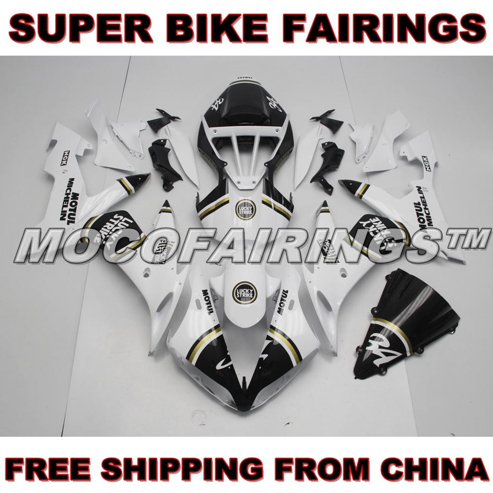 YZF R1 YZF-R1 2004 2005 2006 ABS Sport Bike Fairings Body Cover For Yamaha 04 05 06 LUCK STRIKE arashi r1 new throttle cable for yamaha yzf r1 04 06 2004 2005 2006 stainless rubber cables wire line r1 motorcycle accessories