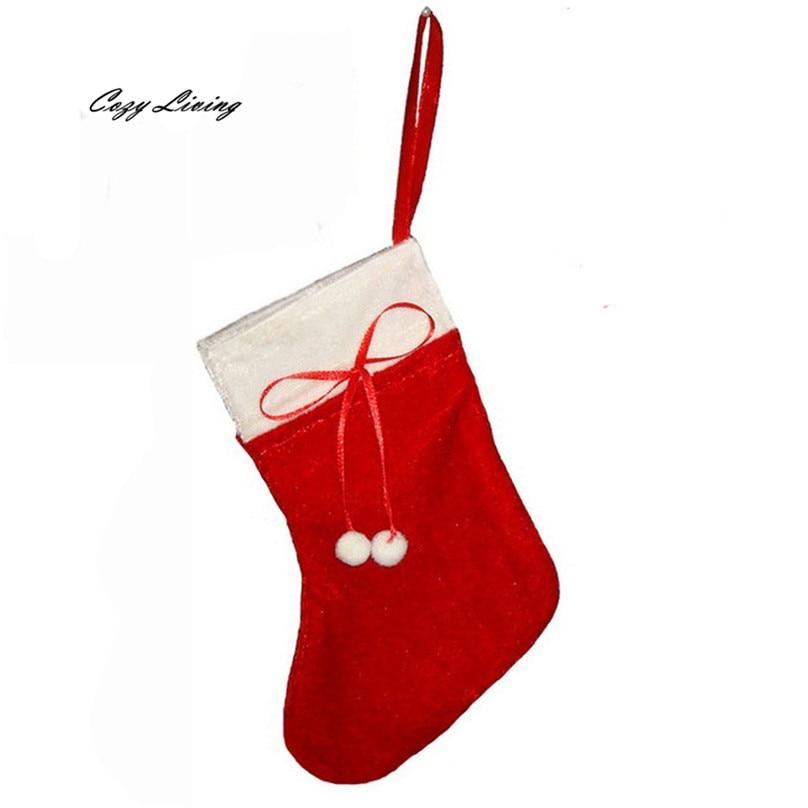 ᗔ1 unid Navidad calcetín almacenamiento Candy bag Año Nuevo Navidad ...