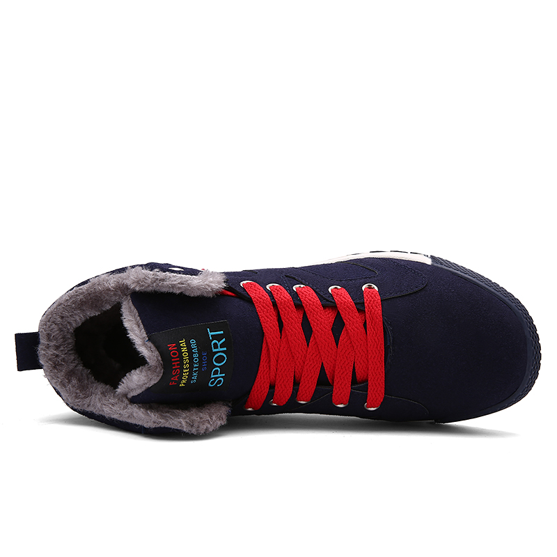 LAISUMK NEW Men 39 S High Help Casual Shoes Solid Color Lace Up Flats Autumn Winter Warm Men Outdoor Shoes Large Size For Males in Men 39 s Casual Shoes from Shoes