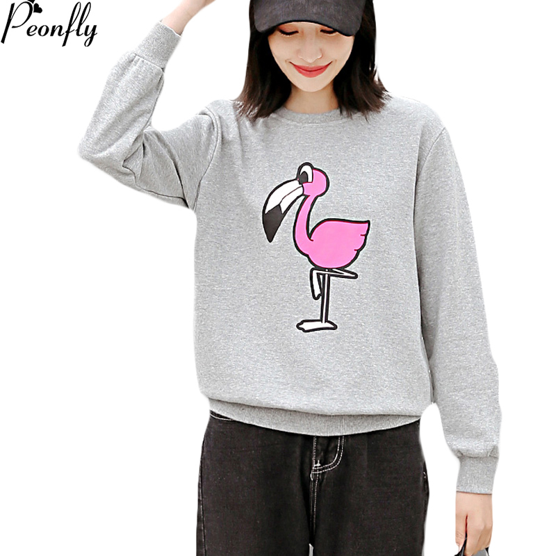 PEONFLY Women Hoodies Sweatshirts Long Sleeve Pink Casual Harajuku Kawaii Winter For Wom ...