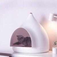 Творческий Pet Утепленная Одежда Белый дом домашних животных гнездо шпиль современный маленьких собак кошек кровать японский острым крыши с