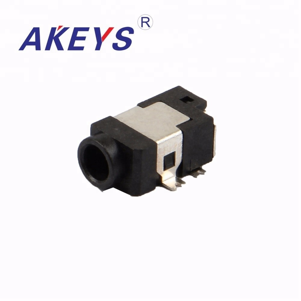 15PCS DC-052 3.7MM*1.0MM 5PINS DC Power Jack Socket Female Panel Mount Connector with 2 fixed feet