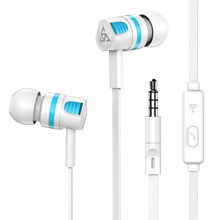 PTMT2 earphones in-ear universal wire control with wheat