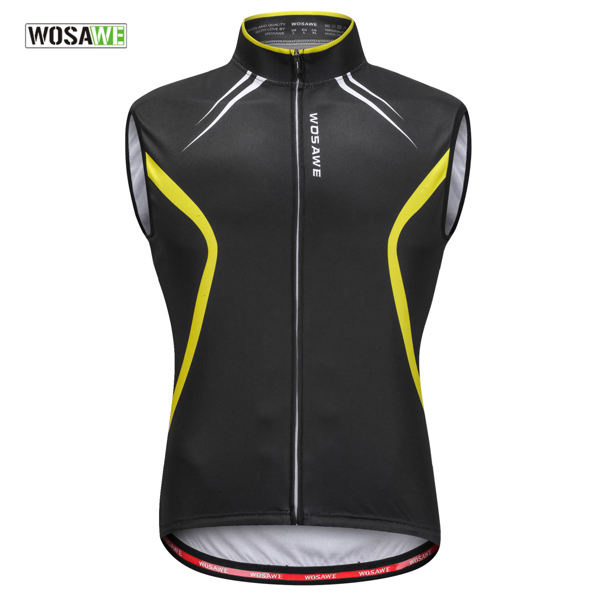 WOSAWE Cycling Vest Men Summer MTB Road Bike Bicycle Shirt Quick Dry Gilet Jerseys Sleeveless Tops Ciclismo Cycle Clothing