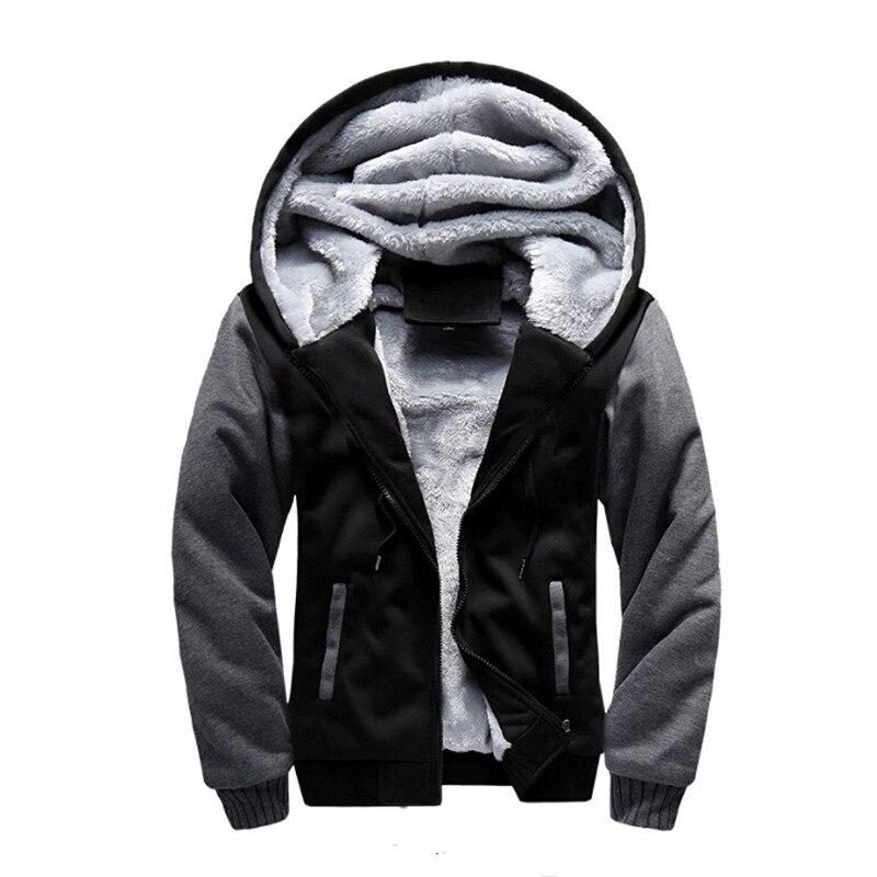 0cc747f6d15dc Hiver Hommes Chaud Hoodies Sweats Marque Vêtements Uniforme de Sport Veste  Polaire À Capuche jaqueta masculina Manteau Plus La Taille 5XL
