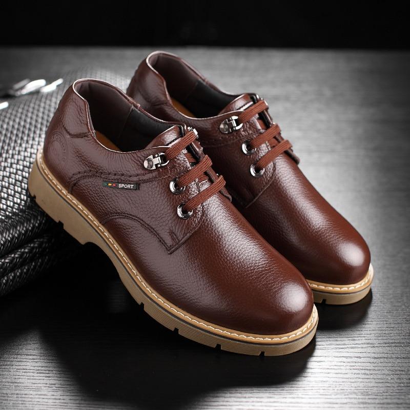 Luxo Do Pé Dedo Up De Redondo Preto Produto Couro Dos Negócios Lace Casamento Derby Mycoron marrom Novos Hombre Homens 2018 Botas Calzado Sapatos OpPg7Uqw