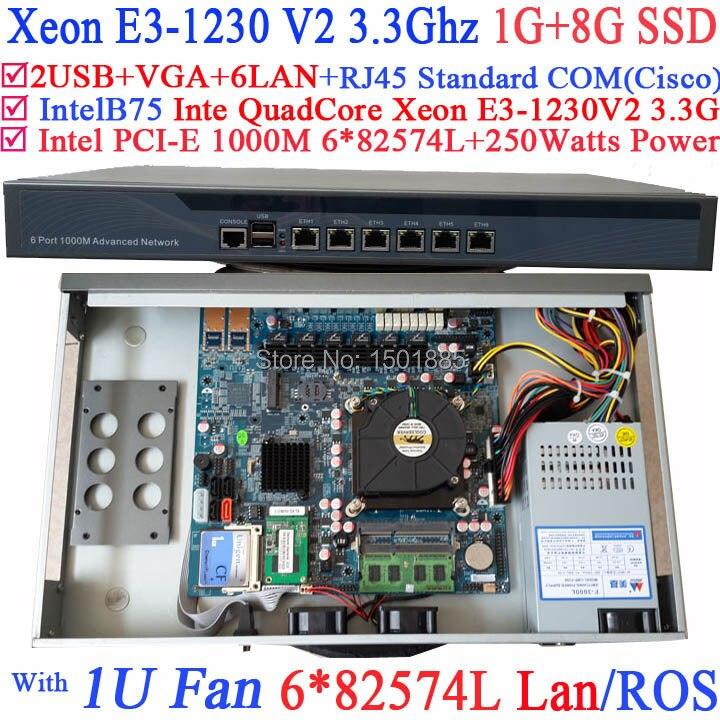 Xeon E3 1230 V2 3 3Ghz Quad Core router with 6 1000M 82574L Gigabit Nics 2
