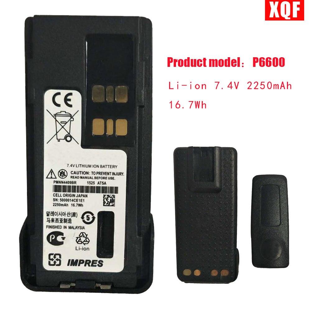 Li-ion 7.4 V 2250 mAh 16.7Wh Batterie Pour Motorola talkie walkie XiR P6600 XPR3500 XPR3300 P6620 DP2600 DE570 Radio Avec ceinture clip