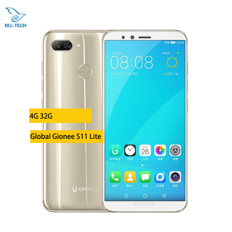 Global Gionee S11 Lite 4G 32G FDD LTE Mobile Phone Android 7 1 Snapdragon Octa core