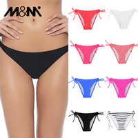 Women Bikini Bottom Solid Swim Pants 2019 Summer Sexy Swimwear Girls Swimsuit Tie Side Low Waist Swim Briefs Tongs B612