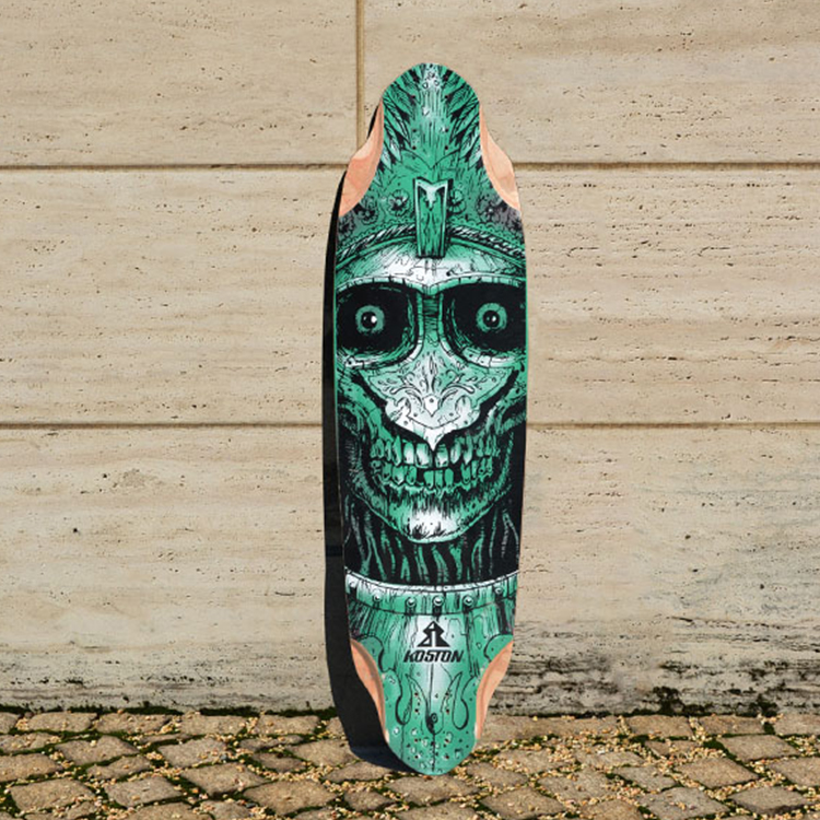 KOSTON pro longboard decks with 9ply canadian maple laminated,36.7 inch*10 inch long skateboard deck for downhill racing