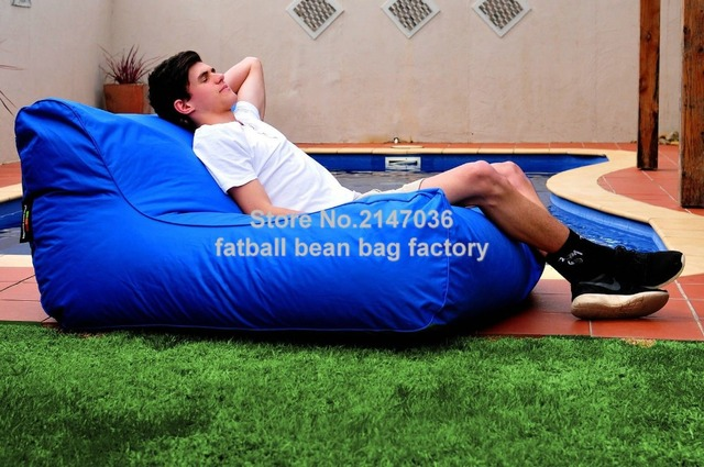 Two Room Seat People Outdoor Bean Bag Furniture, Large Size Beanbag Sofa  Chair , Blue