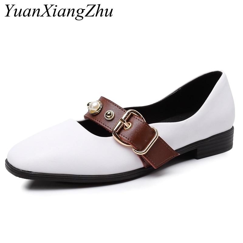 cdd9b47f6798e7 Plat 34 La D'été Femme Automne Chaussures Femmes Zapatos Mocassins Printemps  Mujer blanc Taille 2018 ...