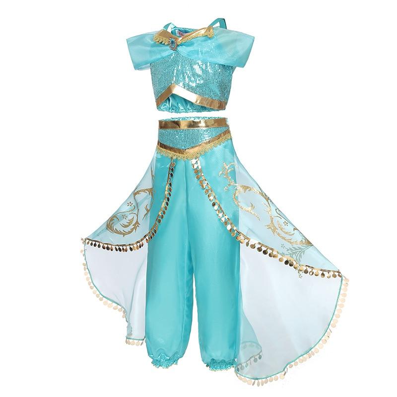 HTB1tbcScfWG3KVjSZFgq6zTspXaN Aladdin Fairy Princess Costume Rapunzel Princess Dress Halloween Carnival Aurora Cosplay Dress up Kids Baby Anna Elsa Dresses