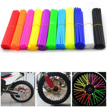 72pcs Wheel Spoke Cover Wrap Kit for Motorcycle Motocross Dirt Sports Bike Auto Car Styling Auto Accessories Motorcycle Hot Sale