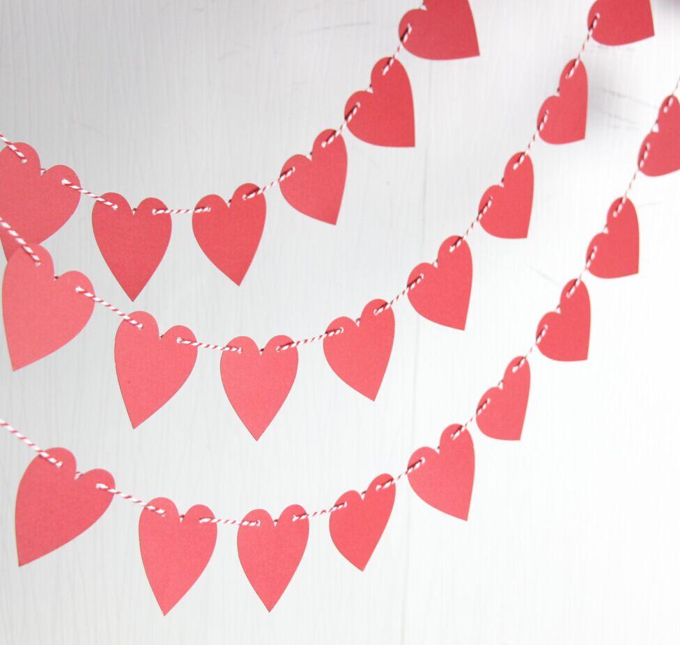 Valentine heart garland Valentines day photo prop Valentines day decoration