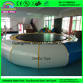 2016 summer swimming pool play toys air bouncer inflatable trampoline,cheap water trampolin