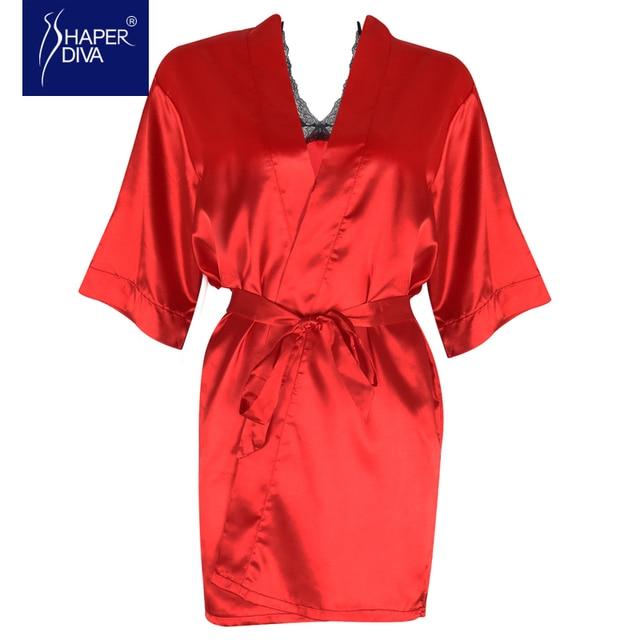 Burvogue Женщины Сексуальное Женское Белье Пижамы Халат Устанавливает Ночной Рубашке Шелковый Халат Пижамы Ночной Рубашке Из Двух Частей Кружева Ночной Халат Ночная Рубашка