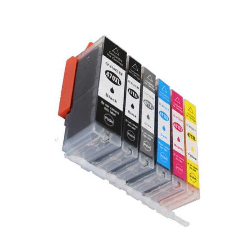 Einkshop 6 pcs Compatível pgi-470 cli-471 pgbk cartucho de tinta para canon pixma MG7740 MG5740 MG6840 TS5040 TS6040 impressora de tinta