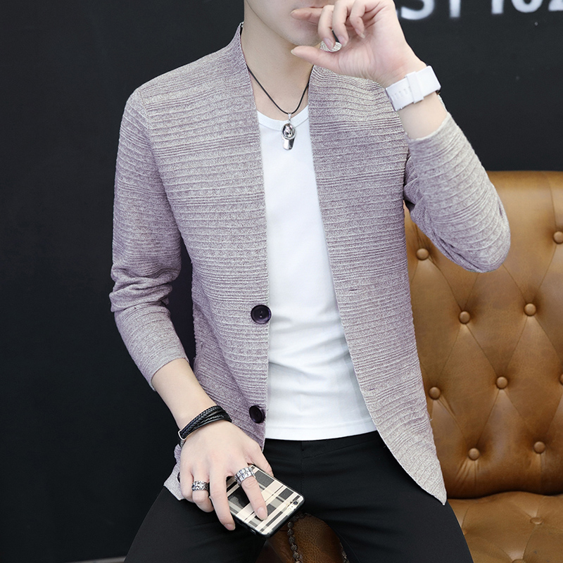 2019 Cardigan Men's Sweater Casual Fashion Clothes Long Sleeve Men's Cardigan Fall Sweater Single Breasted Autumn Brand Hot Sale
