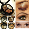 3 Color Eyeshadow Makeup Palette Good Quality Fine Powder Smoky eyes Metal Naked Nude Eye Shadow Cosmetic brush & mirror