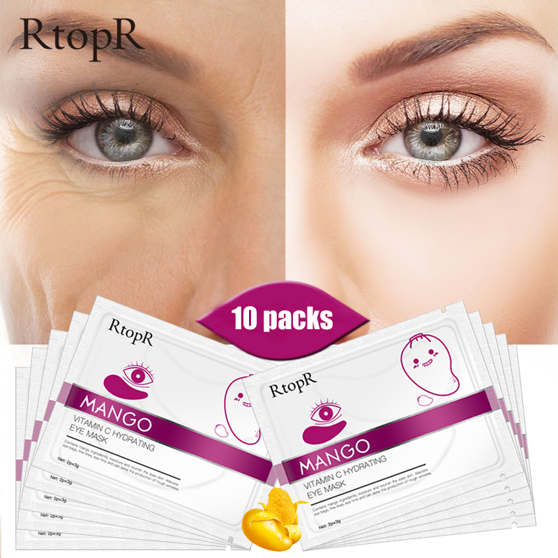 RtopR 30 Pairs Green Algae Collagen Eye Mask For Face Anti Wrinkle Gel Sleep Gold Mask Eye Patches Under The Eye Bags TSLM2