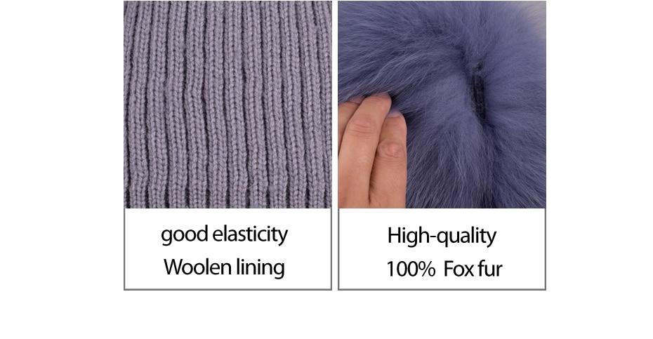 Chapeau et écharpe en véritable fourrure de renard