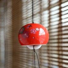 Керамический четырехсезонный ветряной колокольчик, подвесное Современное украшение, креативные и изысканные подарки, элегантный кулон в японском стиле