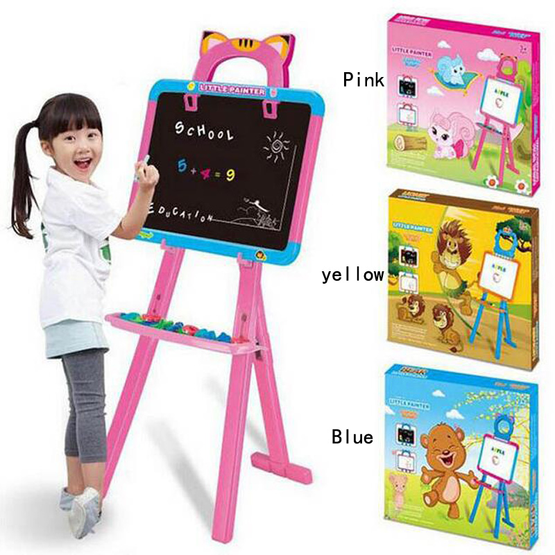 Children s magnetic drawing board standing double sided magnetic writing interesting learning calligraphy drawing board toys