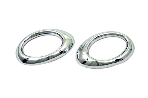 Chrome Front Fog Light Cover (OVAL Type) for Mercedes Benz