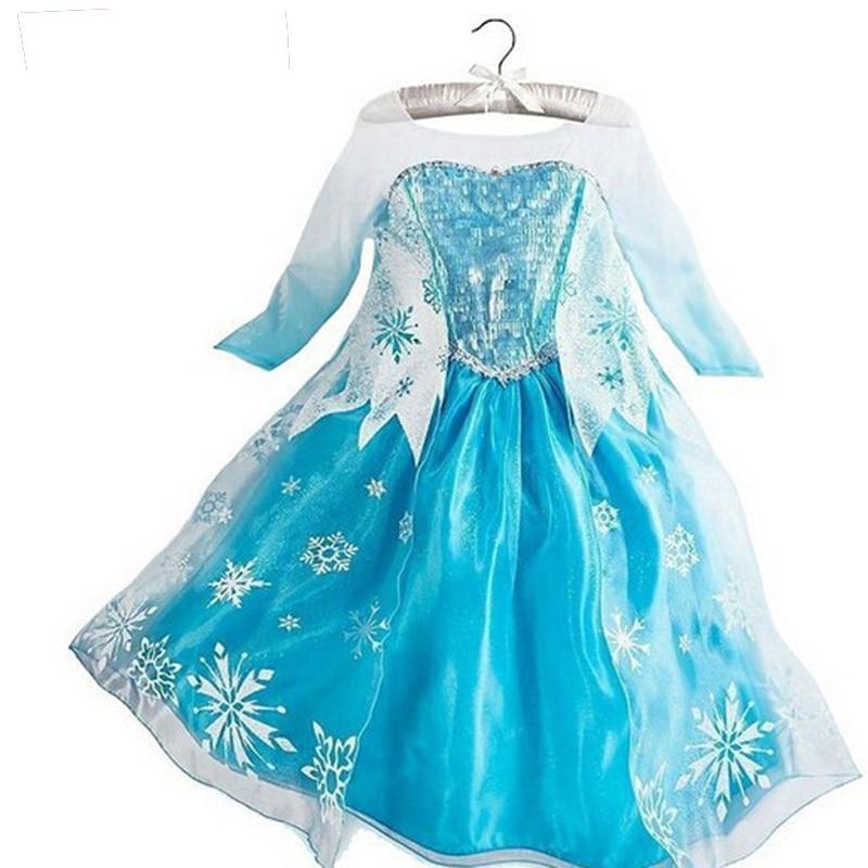 Queen Elsa Dresses Elsa Elza Costumes Princess Anna Dress for Girls Party Vestidos Fantasia Kids Girls Clothing Elsa Set