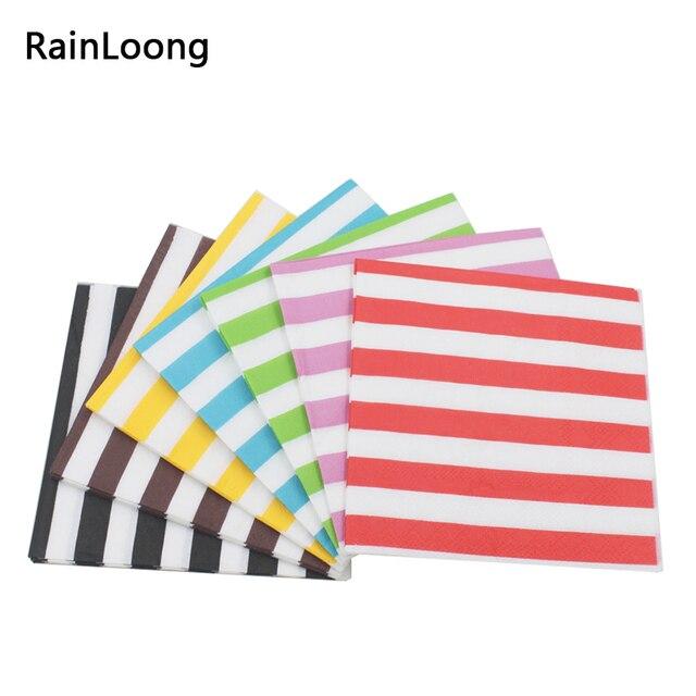 """[RainLoong] אדום גל שברון נייר מפיות רקמות לילדים מודפסים מפיות אספקת 25 ס""""מ * 25 ס""""מ 1 אריזות\מארז"""