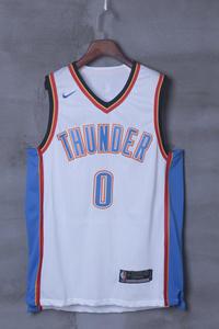 d5e16a691 thunder 0 WESTBROOK white player MAN NIKE Basketball Jersey