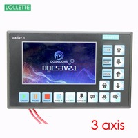 DDCS3V2.1 3 Axis cnc controller panel stepper servo motor speed plc engraving milling router lathe machine usb port