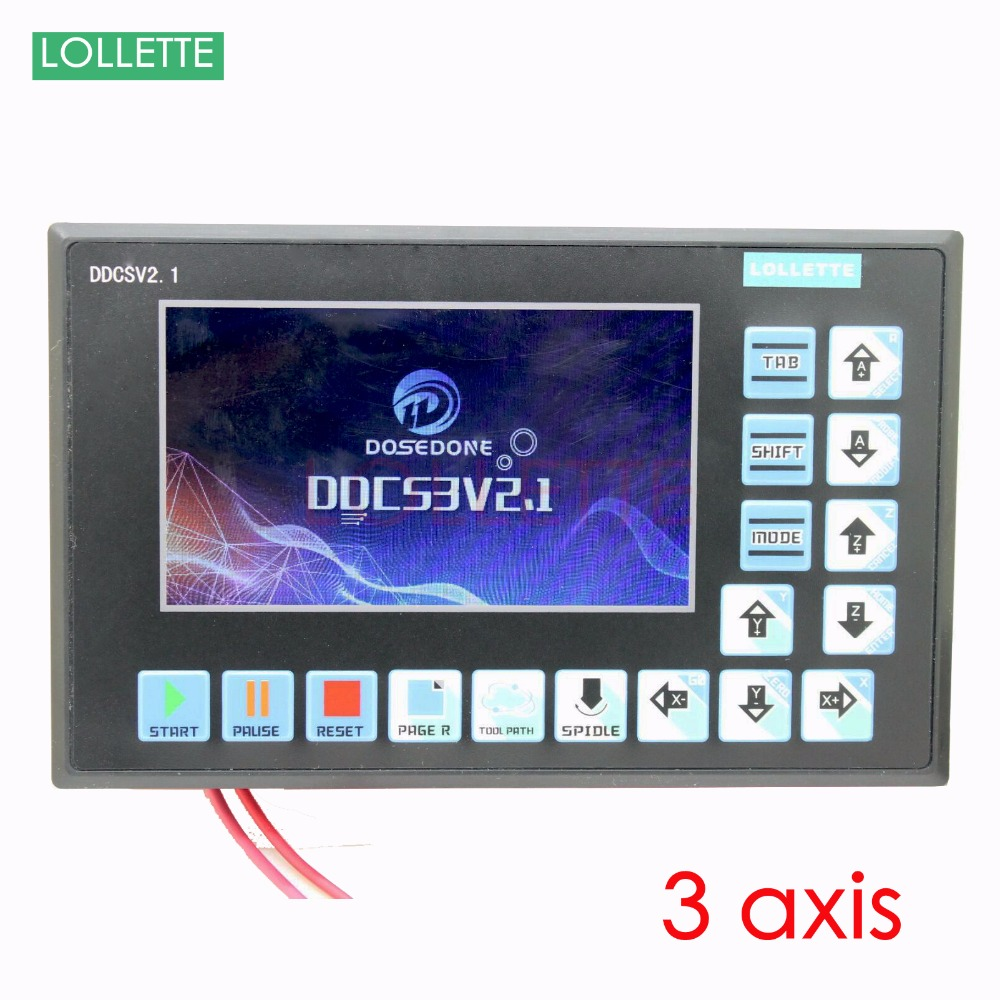 цена на New 2018 3 Axis cnc controller panel stepper servo motor speed plc engraving milling router lathe machine usb port