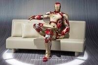 Disney Marvel Avengers Iron Man 3 Mark 42 with Sofa 15cm Action Figure Anime Mini Decoration PVC Collection Figurine Toy model