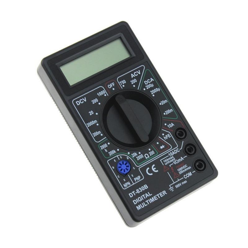 Image 4 - 1Pcs DT830B AC/DC LCD Digital Multimeter 750/1000V Voltmeter Ammeter Ohm Tester High Safety Handheld Meter Digital Multimeter-in Multimeters from Tools