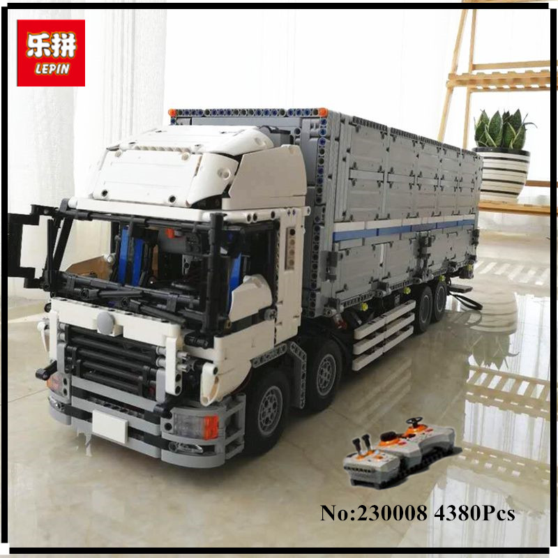 IN STOCK LEPIN 23008 4380pcs technic series MOC truck Model Building blocks Bricks kits Compatible boy birthday gifts 1389 цена и фото