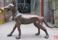 006788 44Huge Western Sculpture Bronze ART German Shepherd Dog wolf dog statue