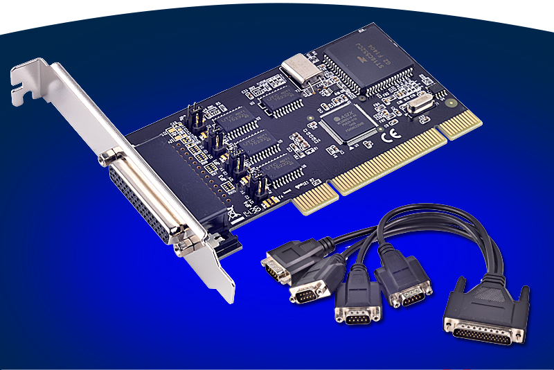 4 Ports Serial PCI-e Card PCI to 8-port RS-232 I/O Card DB9 Multiplier with Cable moschip 16c1058 8 port serial pci card with fan out cable pci to 8 rs232 db9 ports converter industrial io card