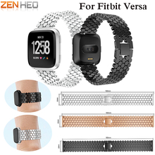 Metal Strap For Fitbit Versa band strap Stainless Steel Bracelet Replace Watch Band Wristband Women Men Bands