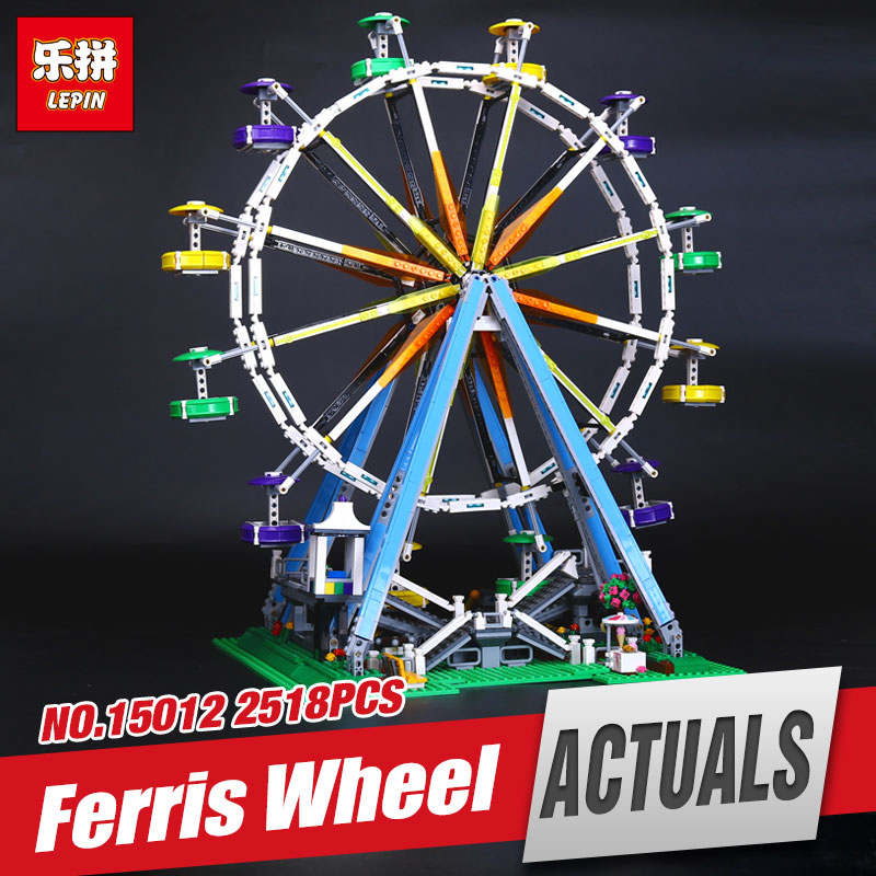 LEPIN 15012 series the Ferris Wheel model Educational building blocks set Classic compatble 10196 Architecture Funny Toys lepin 15012 2478pcs city series expert ferris wheel model building kits blocks bricks lepins toy gift clone 10247