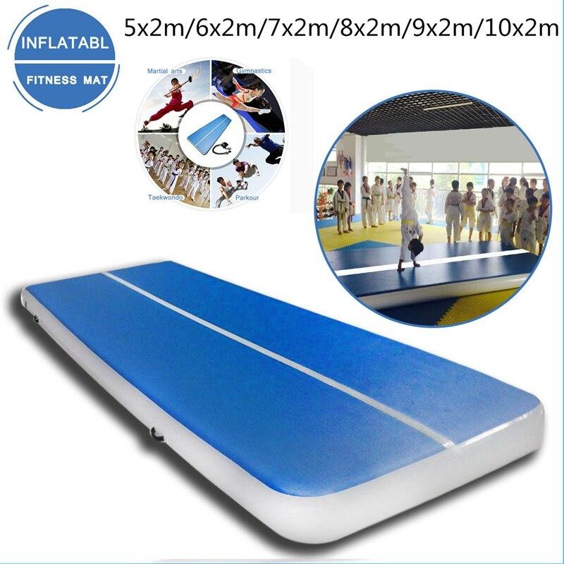 SGODDE 6x2 m/7x2 m/8x2 m/9x2 m/10x2 m/12x2 m Inflável Esteira de Ginástica Ar Caindo Faixa Chão Tapete de Ginástica Torcida Mat Para Taekwondo