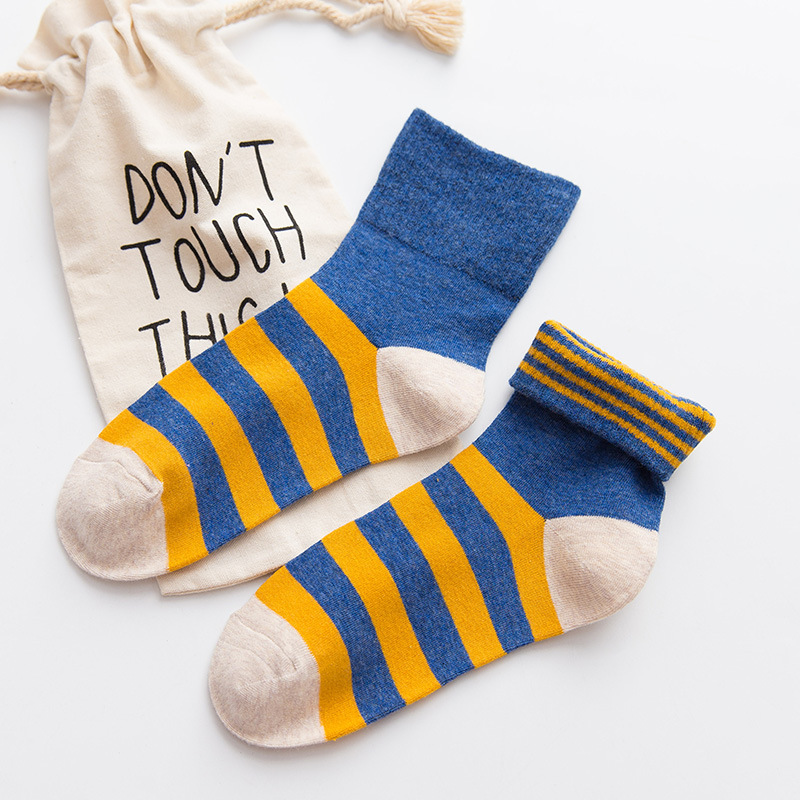 3 Pair Casual Funny Socks Women Cotton Cute Harajuk Socks Fruit Striped Art Socks Warm Colorful Ankle Socks
