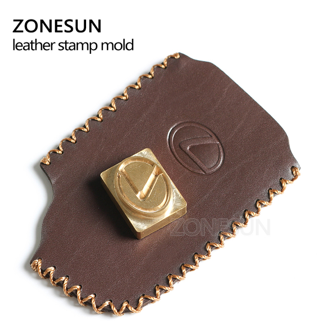 ZONESUN-timbre en cuir avec Logo   Personnalisé en laiton, marque en fer à chaud, chauffage sur papier en bois, moule destampage personnalisé pour bricolage, cadeau