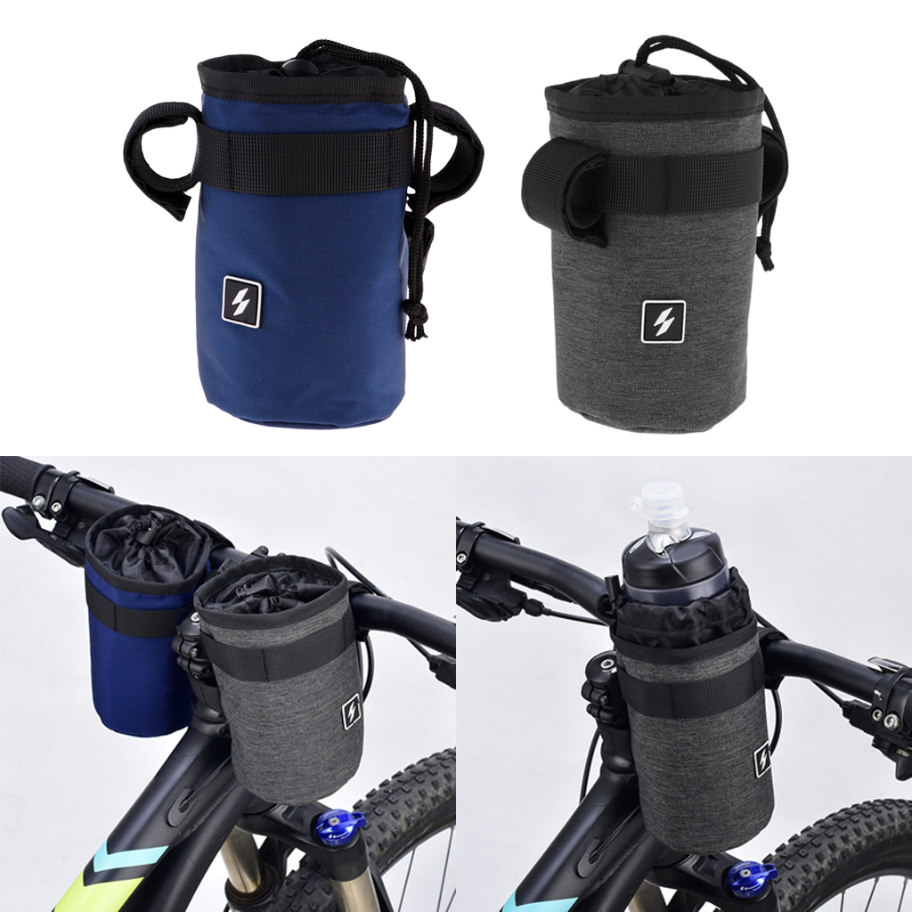 Durable Polyester Sport Water Bottle Bag <font><b>Carrier</b></font> Pouch Cycling Handlebar Kettle Bag <font><b>Bike</b></font> Handlebar Stem Bag Bicycle <font><b>Accessory</b></font> image
