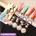 Diy Jewelry making 5pcs/lot Mix Wild fashion pearl rhinestone tassel Keychain Lovely lady bag buckle gift pendant ornaments
